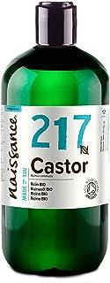 Naissance Aceite de Ricino BIO 500ml - Puro natural certificado ecológico prensado en frío vegano sin hexano no OGM ...