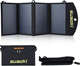 SUAOKI 25W Cargador de panel solar portátil, placa solar plegable, con 2 USB puerto de tecnología TIR-C, compatible con iPhone, iPad, Samsung y otros dispositivos electrónicos