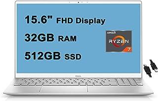 "2021 Flagship Dell Inspiron 15 5000 Laptop Computer 15.6"" FHD Display AMD Octa-Core Ryzen 7 4700U (>i7-10510U) 32GB DDR4 5..."