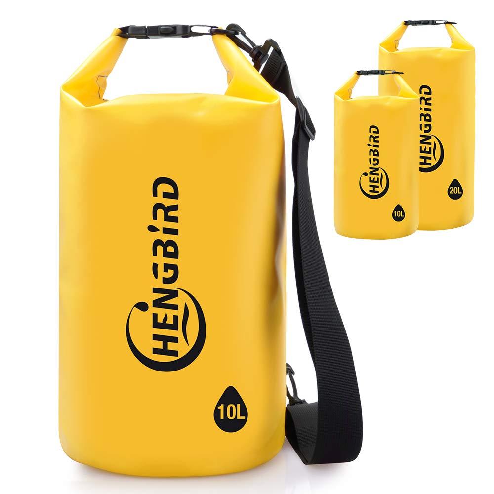 BLACK 10L PVC Waterproof Floating Dry Bag Sack for Canoe Boating Kayaking UK