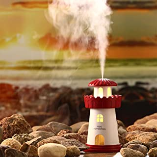 Leoie Luz de la Noche del difusor del Aroma del humectador del faro de la carga del USB LED para la decoraci\u00f3n del Regalo del coche de Ministerio del ...