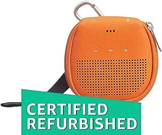 (Renewed) AmazonBasics Speaker Cover with Kickstand (for Bose SoundLink Micro Bluetooth Speaker) - Orange