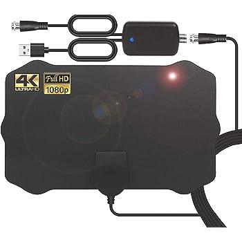 Antenne TV Intérieur Puissante, 120 Mile 200 km d'autonomie Antenne  Intérieure Signal Amplificateur Booster avec 4.2m câble coaxial-VHF/UHF/FM,  Soutenir TV HD 4K 1080P: Amazon.fr: High-tech