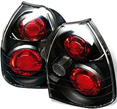 For 1996-2000 Civic CX DX 1.6L EJ6/EK 3Door Hatchback JDM Black Tail Light Brak Lamp Left+Right Pair
