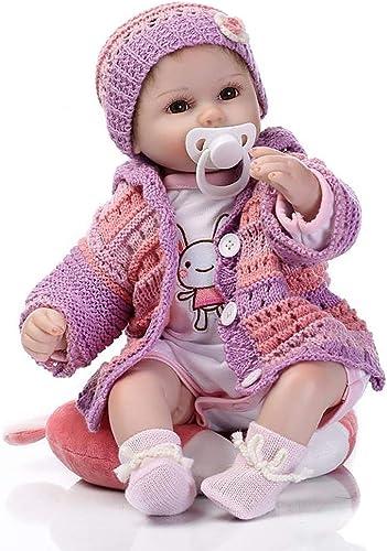 calidad fantástica Zinniaya Silicona Reborn Baby Doll Juguetes Accesorios Suéter púrpura Princesa Princesa Princesa Doll  en promociones de estadios