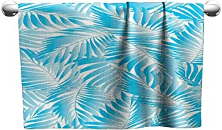 Art Towel Leaves,Miami Style Tropical Aquatic Palm Leaves with Exotic Colors Summer Beach,Turquoise Aqua Blue,Hooded Towel for Boys