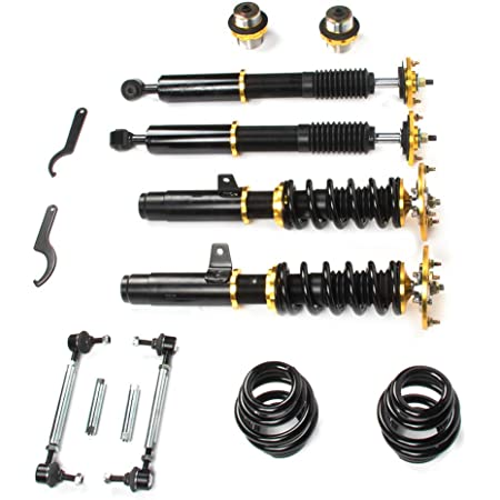 Set of 4 MOSTPLUS Coilovers Struts for BMW E46 318i//323Ci//328Ci//328i//323i// 328is// 323is//318ti// 330Ci Suspensions Shock Struts Kits