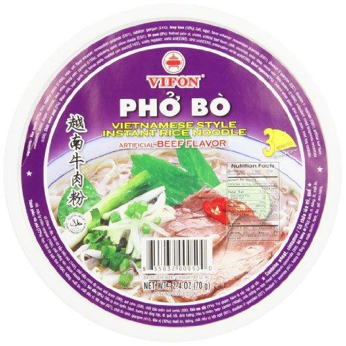 Vifon Pho Bo Noodle Bowl, Beef, 2.4 Ounce (Pack of 12)