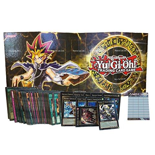 Lotto 100 carte Yu-Gi-Oh! IN ITALIANO con min. 7 mostri XYZ dei quali 3 sono mostri Numero + 1 Playmat in Cartone + 1 Segnapunti Andycards