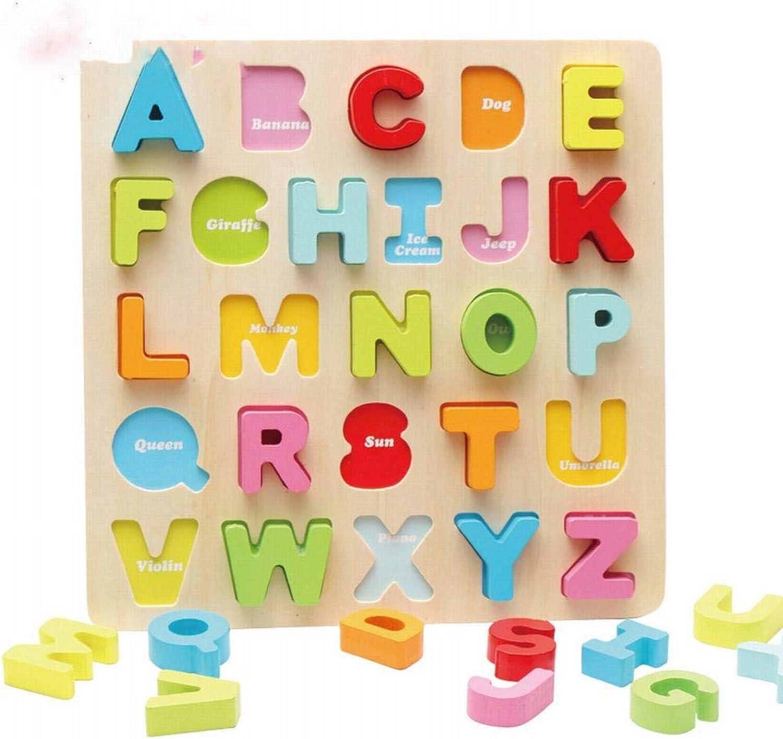 L Y Buchstabenblöcke, Kognitives Puzzle, Dreidimensionales Puzzle Puzzle Puzzle für Kinder, Lernspielzeug aus Holz, 4-6-7 Jahre Alt,Ein B07GBM7QDR  Bekannt für seine hervorragende Qualität b54fd0