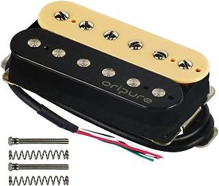 OriPure Alnico 2 Double Coil Guitar Humbucker Pickups Zebra Neck Pickup-Strong Powerful Sound