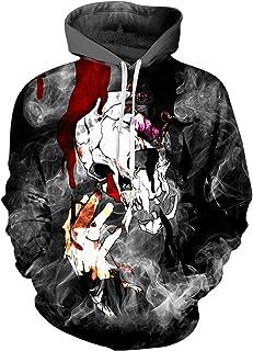 pinata Skull Smoke Printed Pullover Hoodie Men 3D Cool Hooded Sweatshirt Casual Pockets