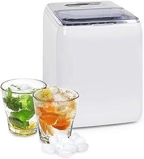 Klarstein Coolio - Machine à glaçons, Glace transparente, 20kg de glace par jour, Réservoir d'eau de 2,8l, Bac collecteur ...