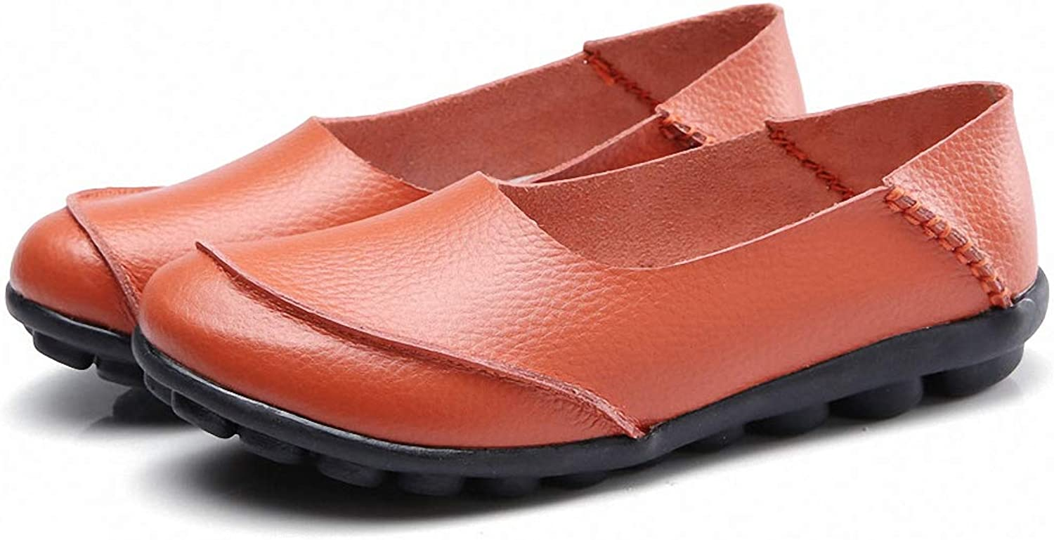 Kyle Walsh Pa Women Casual Flats Non-Slip Leather Soft Loafers for Pregnant Ladies
