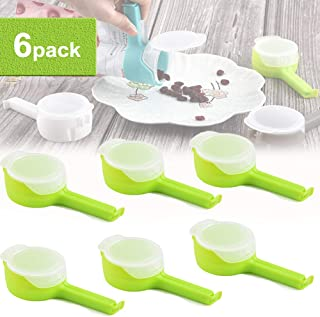 Food Sealing Clip with Large Discharge Nozzle, Food Saver Clips, Seal Pour Food Storage Bag Clip, Plastic Bag Moisture Sealing Clamp Food Saver for Storage Food Kitchen Tools (Green)