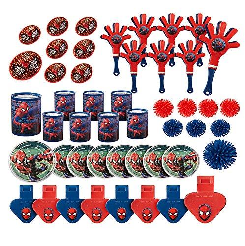 Marvel Spiderman Birthday Party Supplies 48pc Mega Value Favor Pack