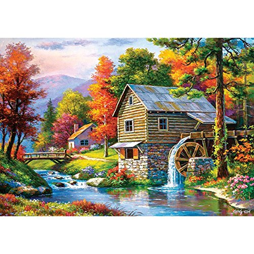 Castorland Old Sutters Mill 500 pcs Puzzle - Rompecabezas (Puzzle Rompecabezas, Paisaje, Niños y Adultos, Niño/niña, 9 año(s), Interior)