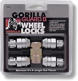 "Gorilla Automotive 61681N Chrome Acorn Gorilla Guard II Wheel Locks - Set of 4 (1/2"" Thread Size)"