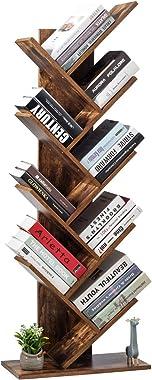 Tangkula 55-Inch Tree Bookshelf, 9-Shelf Free Standing Tree Bookcase, Bookshelves for Home Living Room Office Children's Room