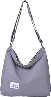 COAFIT Women's Tote Retro Casual Canvas Handbag Shoulder Crossbody Bag Top Handle Bag