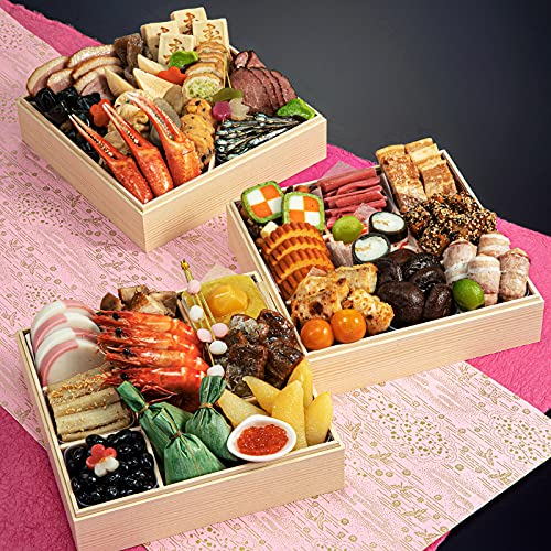 京菜味のむら 本格京風おせち 「華御所」 冷凍 三段重 40品 12月30日着