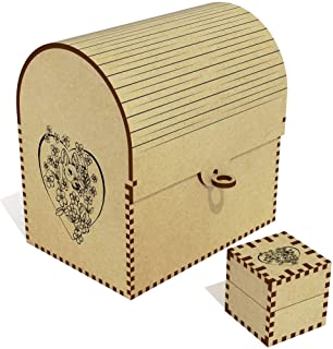 Azeeda  Heart Deer  amp  Flowers  Treasure Chest Jewellery Box  TC00041160