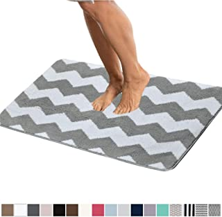 Best white and silver bathroom rugs Reviews