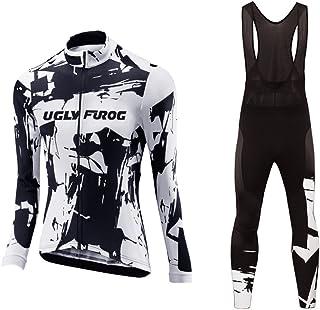 2018-2019 MTB Bike Wear Cycling Jersey Long Sleeve Women Bike Suits Long Bib Pant with Gel Pad Winter&Autumen Triathlon Clothing