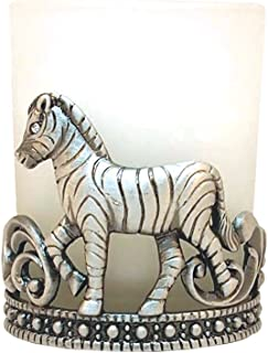 All For Giving Zebra Votive Candle, Pewter