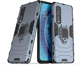 FanTing Case for Oppo Find X2 Pro, Rugged and shockproof,with mobile phone holder, Cover for Oppo Find X2 Pro-Dark Blue