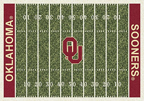 American Floor Mats Oklahoma Sooners NCAA College Home Field Team Area Rug 3'10'x5'4'