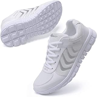 Women's Athletic Mesh Breathable Casual Sneakers Lace Up Running Comfort Sports..