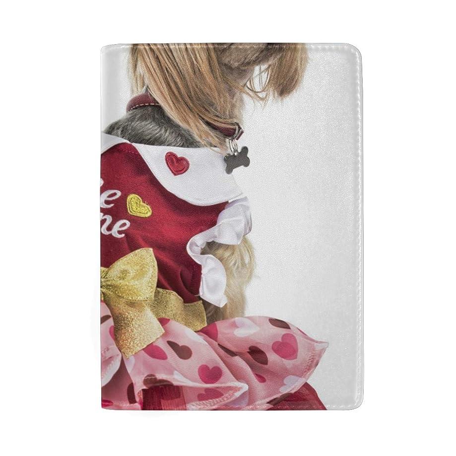 Passport Holder Valentine Princess Dog Passport Cover Case Wallet Card Storage Organizer for Men Women Kids