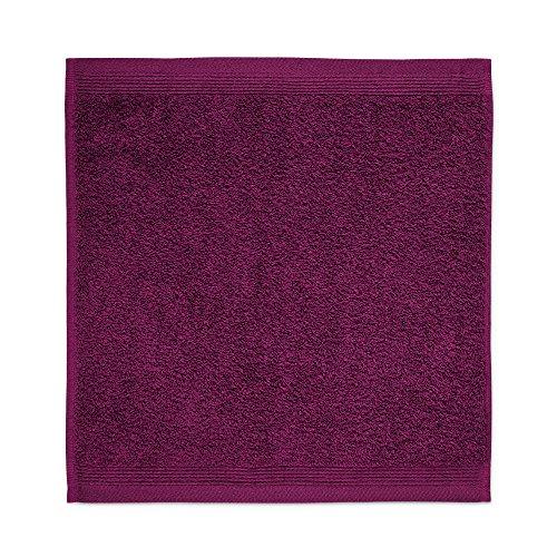 möve 017258775-030030-266 serviette lavette, Berry, 30 x 30 cm