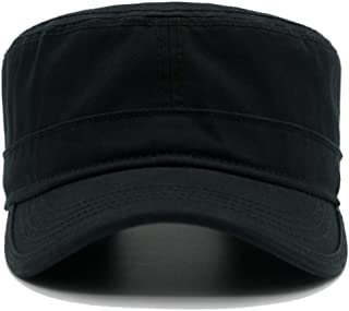 Krisphily Washed Cotton Military Hat for Men and Women