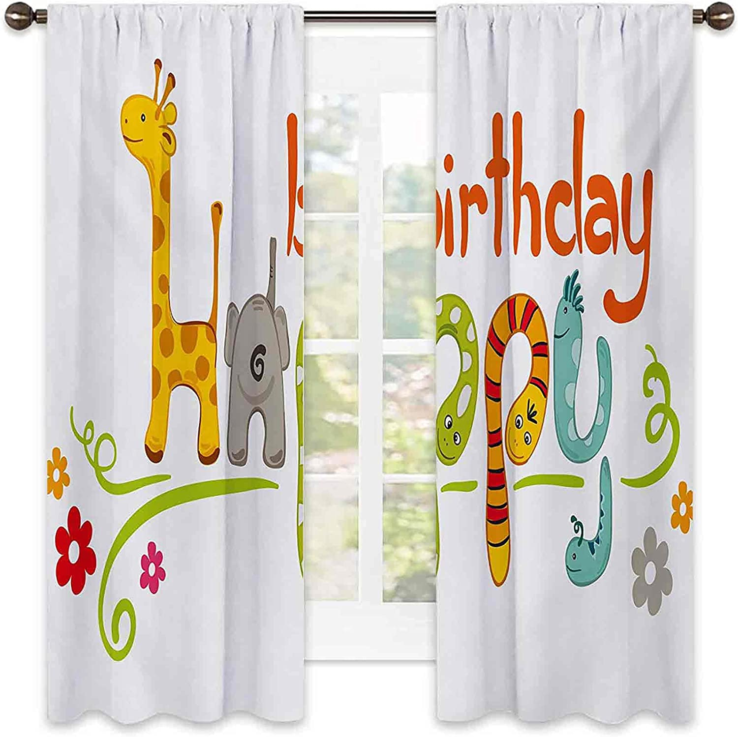 Shading Insulated Kids Birthday Nippon regular supreme agency Curtain Letters Happy