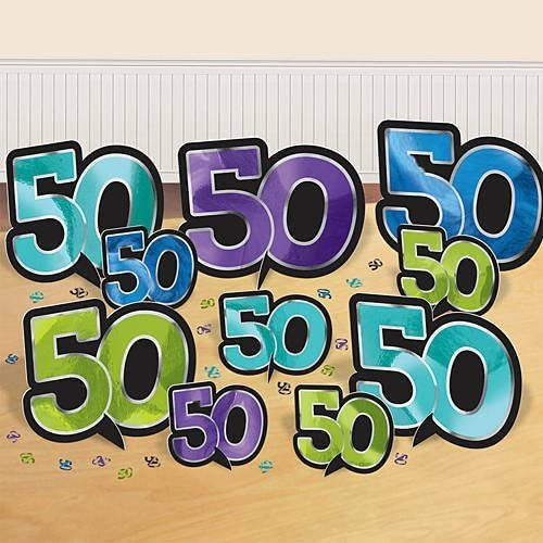 Entrega rápida y envío gratis en todos los pedidos. The Party Continuous 50th Birthday Party Party Party Table Decorating Kit Outdoor Decoration, Multi , 13 X 2.7 foil by TradeMart Inc.  deportes calientes