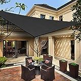 HENG FENG Toldo Vela de Sombra Triangular 5 x 5 x 5 m Protección Rayos UV Solar Protección HDPE Transpirable Aislamiento de Calor para Dar Sombra a su Jardín Color Antracita