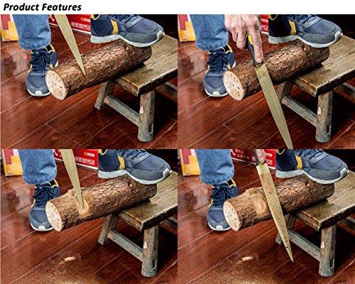 2 Piezas 8inch 10inch Archivo de la Aguja del Acero de Carb/ón de la Alta Calidad Fij/ó los Archivos Planos de Madera de la Raspa de la Mano Aguda para la Madera Dura que Talla la Madera