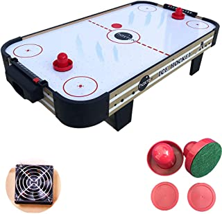haxTON Air Hockey Table Accessories Sets with 4 Size Pucks and 2 Plastic Lightweight Goalies Replacement Accessories for Air Hockey Game Tables