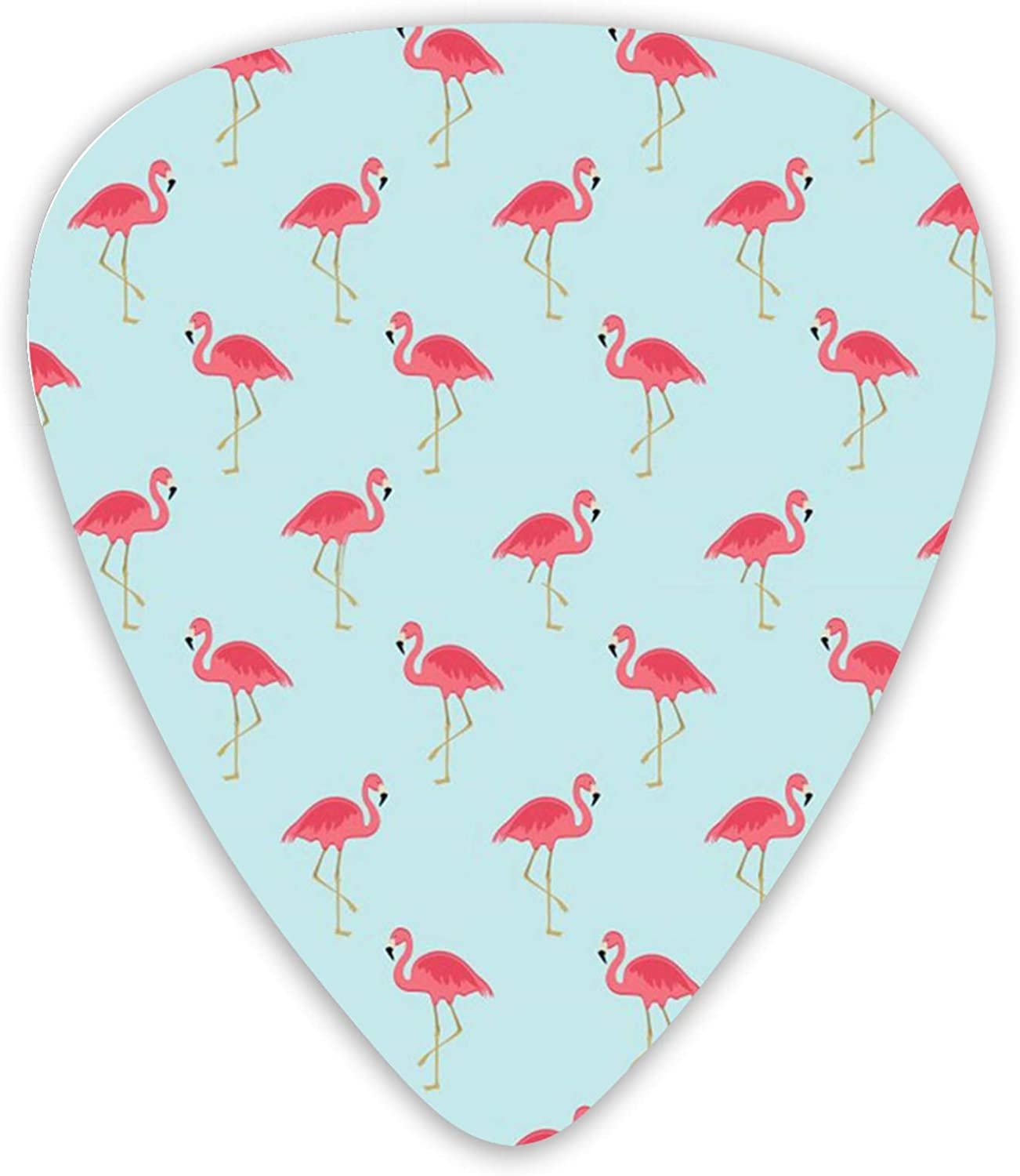Cute Lovely Flamingos Guitar For 12pc Electri Portland Mall Inventory cleanup selling sale Picks