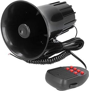 CUTULAMO Alto-falante de aviso de carro, buzina de aviso de sistema Pa integrado prática para avisar outros e grandes eventos