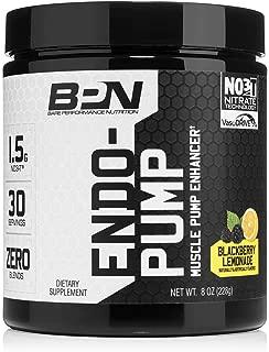 Bare Performance Nutrition, Endo Pump Muscle Pump Enhancer, L-Citrulline, NO3-T Betaine Nitrate & VasoDrive-AP Hydrolyzed Casein Tripeptides (30 Servings, BlackBerry Lemonade)