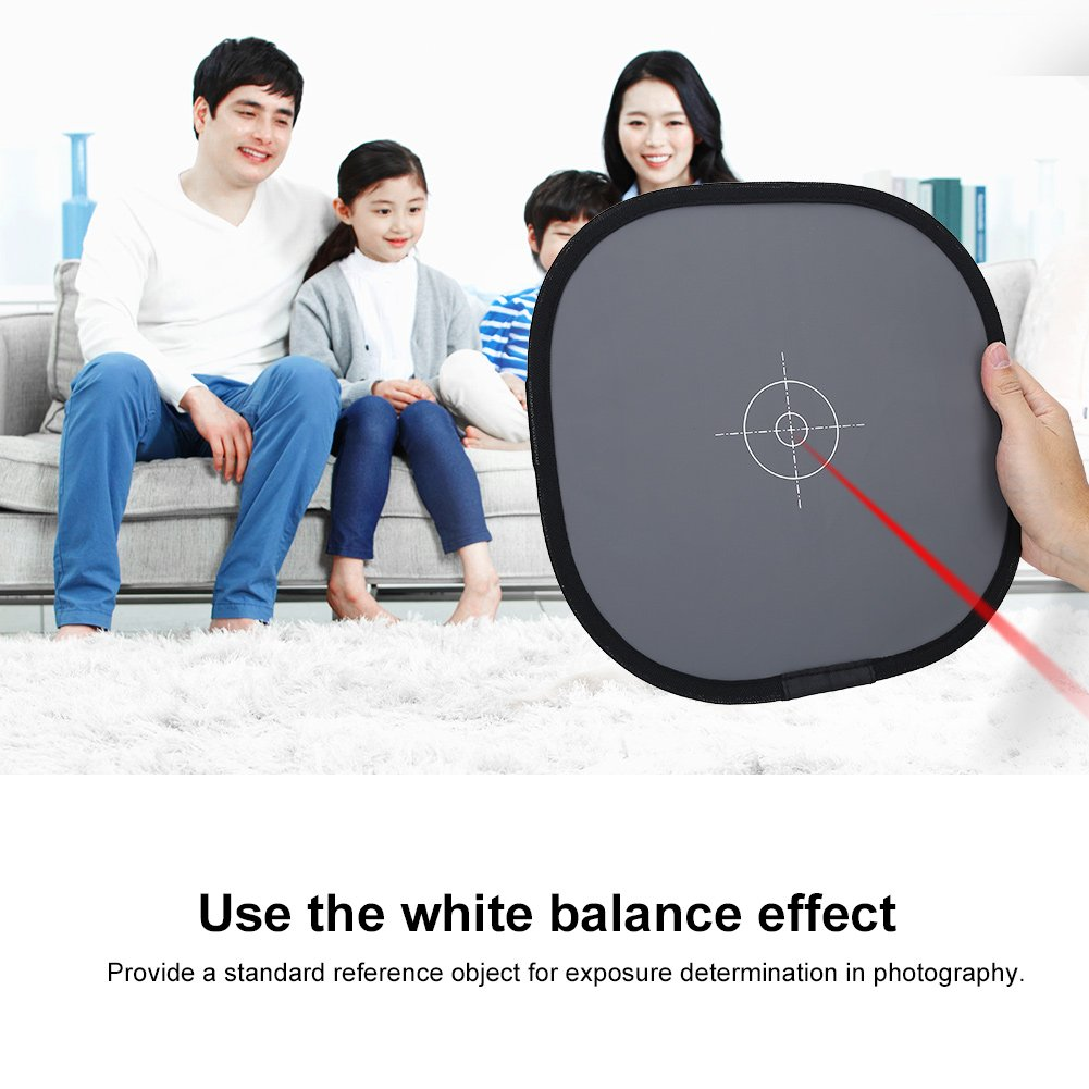 White Balance Card,Foldable 30cm 18/% Grey Balance Reference Card with Carrying Bag,Wearable,Washable and Anti-Deformation for Photography Accessory