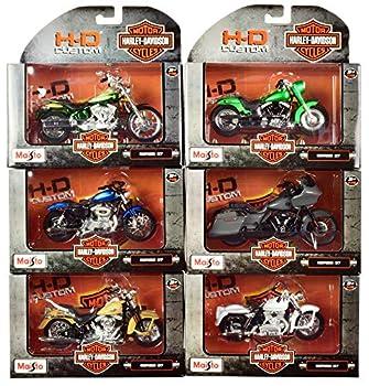 Harley-Davidson Motorcycles 6 Piece Set Series 37 1/18 Diecast Models by Maisto 31360-37