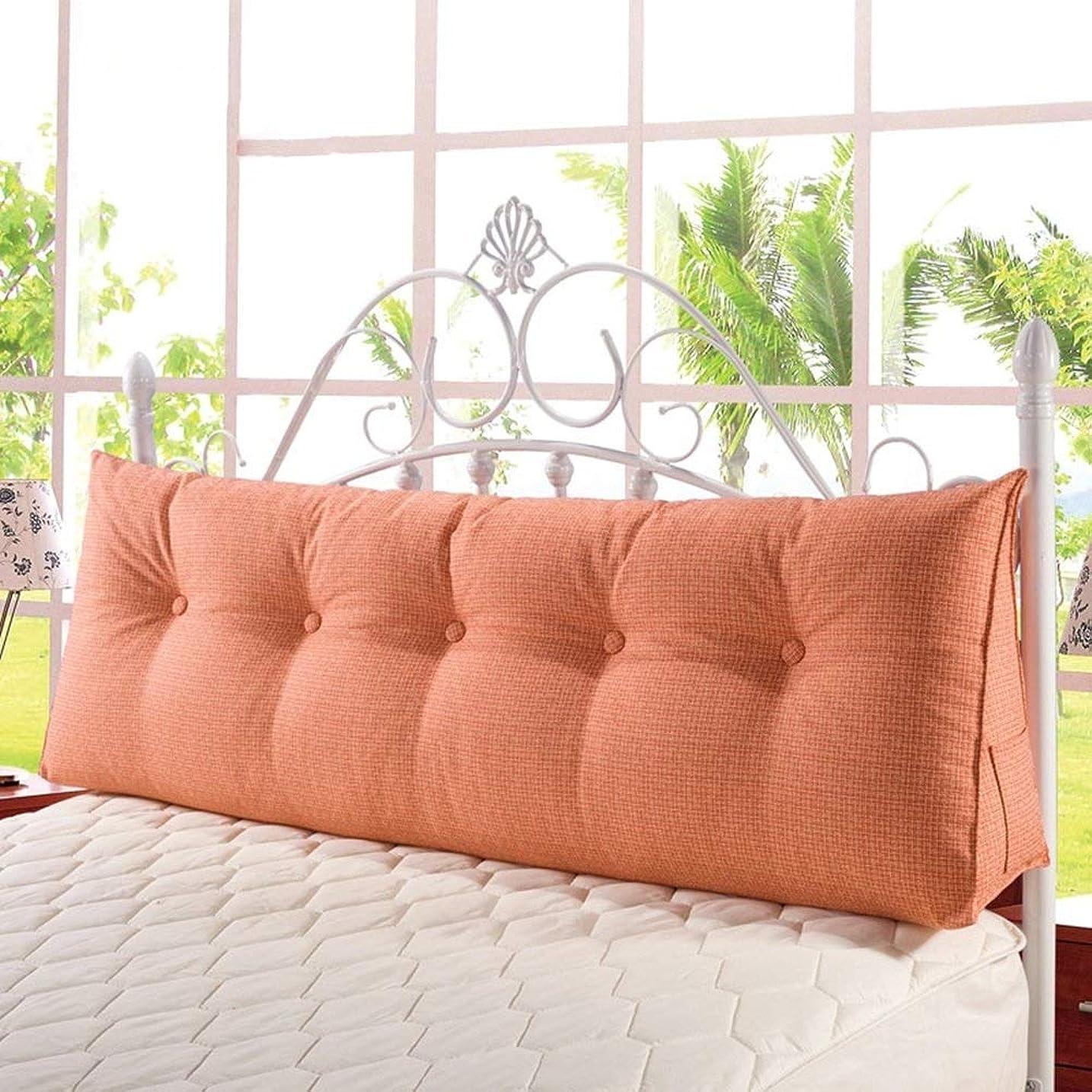 マンハッタン驚くばかりエミュレートするベッドクレードルクッション枕背もたれリネントライアングルソフトバッグベルト洗えない変形可能、6色、5ビッグ(色:3#、50秒) (Color : 6#, Size : 180×20×50cm)