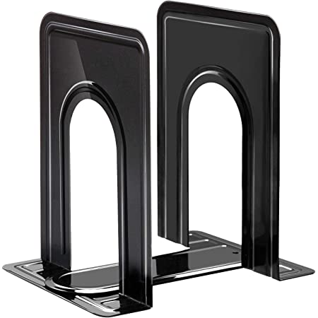 Block Steelmaster Large Deluxe Bookends Black One Pair