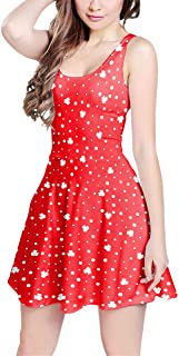 Rainbow Rules Minnie Red Polka Dots Sleeveless Flared Skater Dress