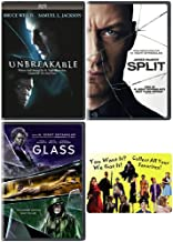 The M. Night Shyamalan Master Collection: Complete Movie Trilogy DVD Collection: (Unbreakable + Split + Glass) + Bonus Art Card