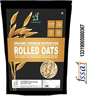 Leanbeing Rolled Oats (1kg)   Gluten Free  High Protein and Fibre